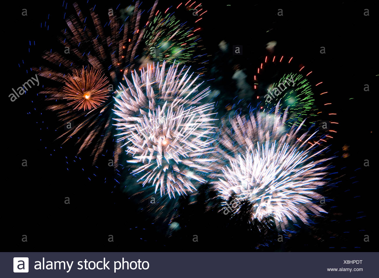 party celebration rockets - Stock Image