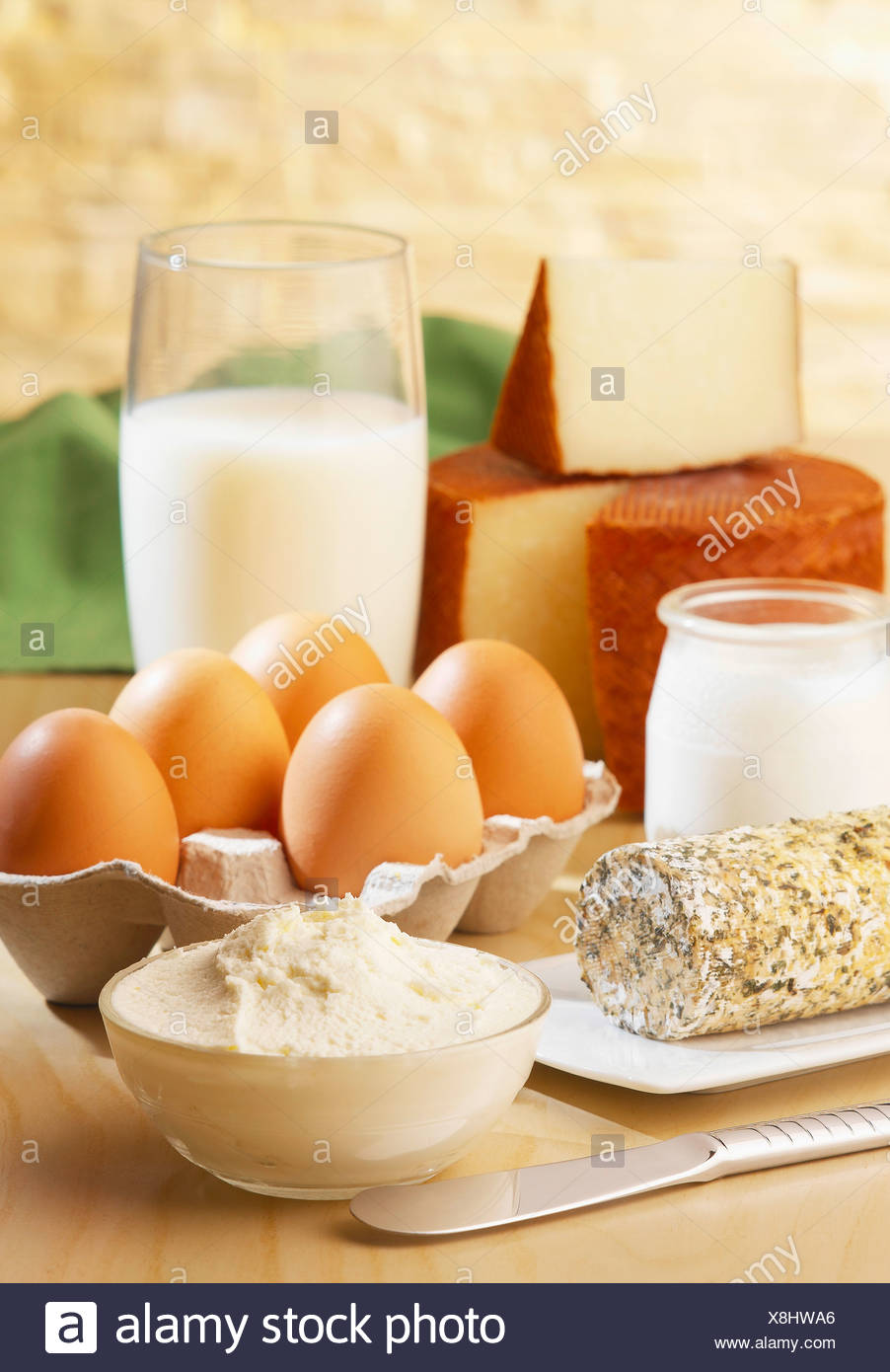 Dairy product composition - Stock Image