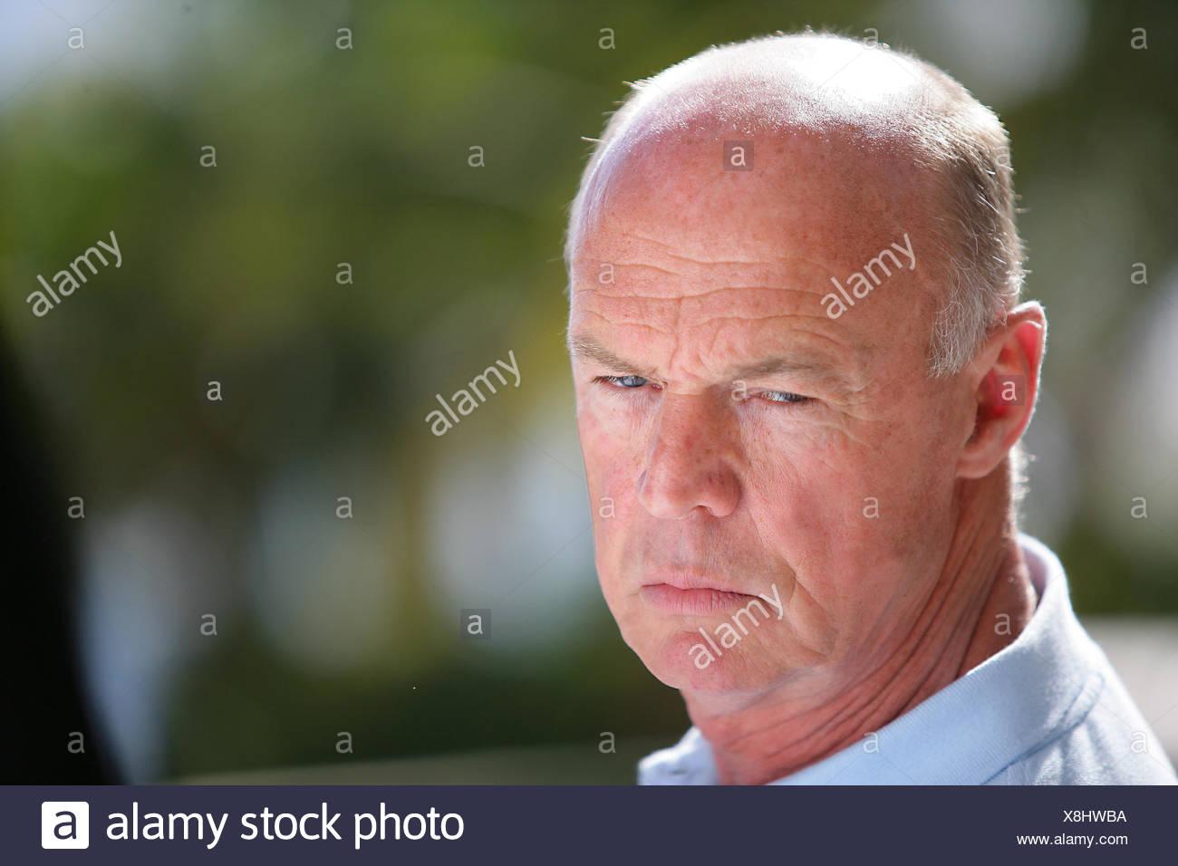 A grumpy old man Stock Photo