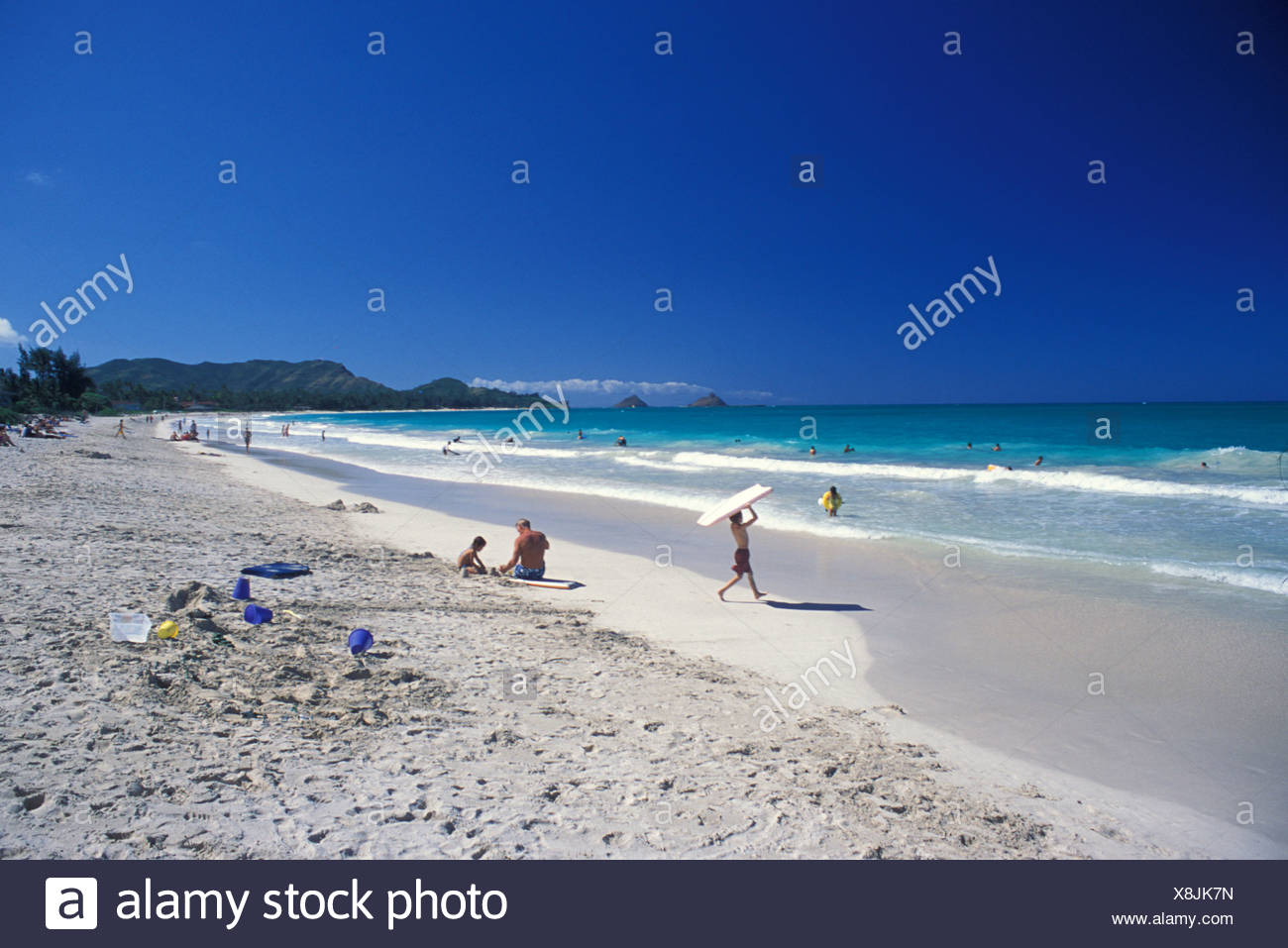 Kapalama Beach Park In Kailua Offers Beautiful White Sands