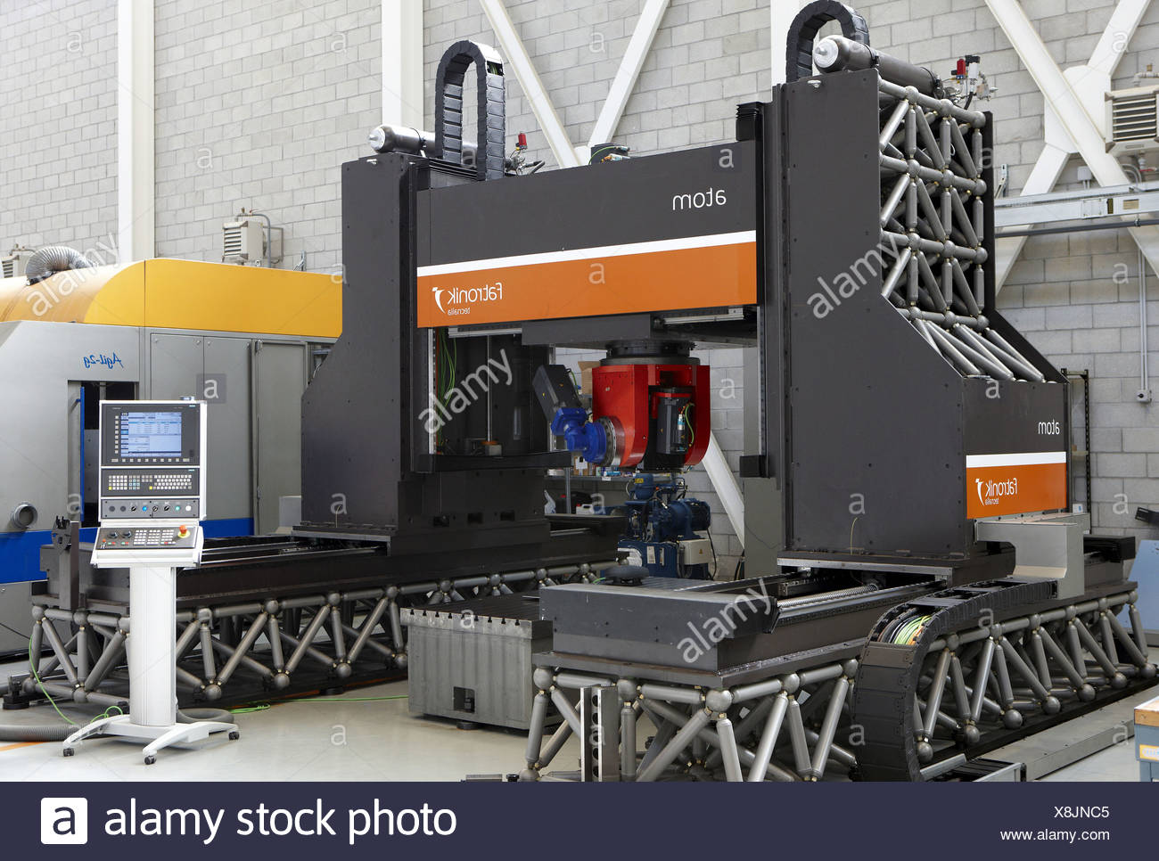 Atom friction stir welding machine, Fatronik-Tecnalia, Research and Technology Center, Donostia, Basque Country, Spain - Stock Image
