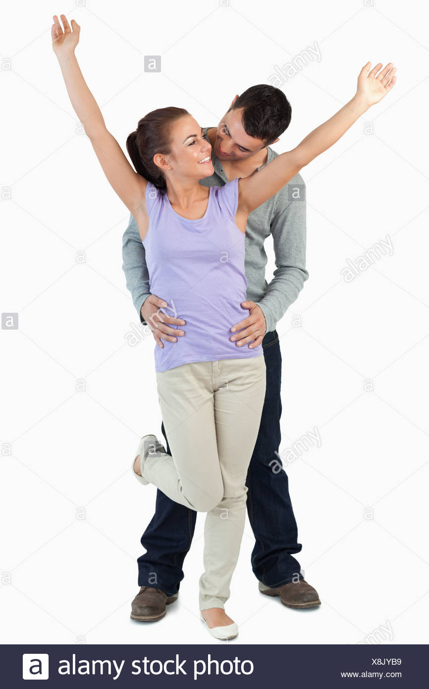 Happy young couple in love Stock Photo