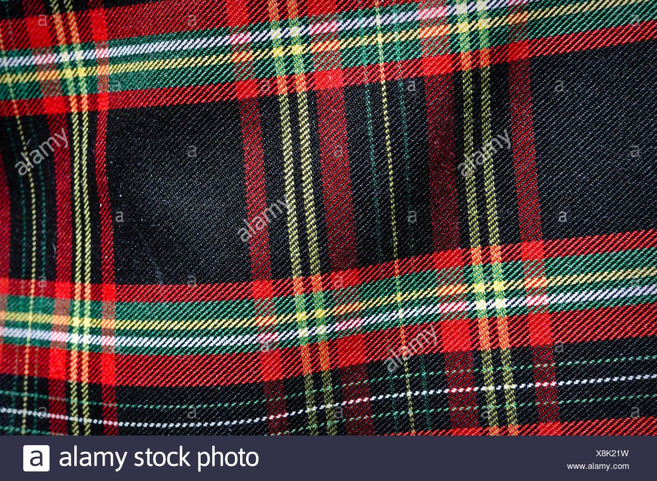 Plaid Scottish Kilt - Stock Image