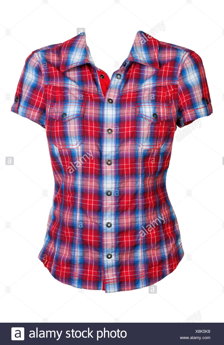 red and white checkered shirt stock photos amp red and white