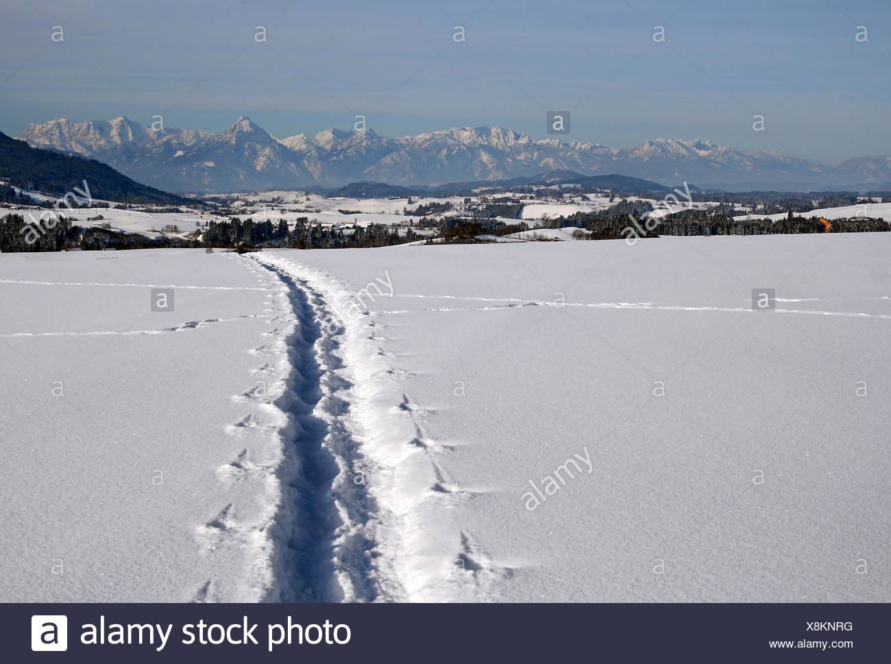 mountains winter sense - Stock Image