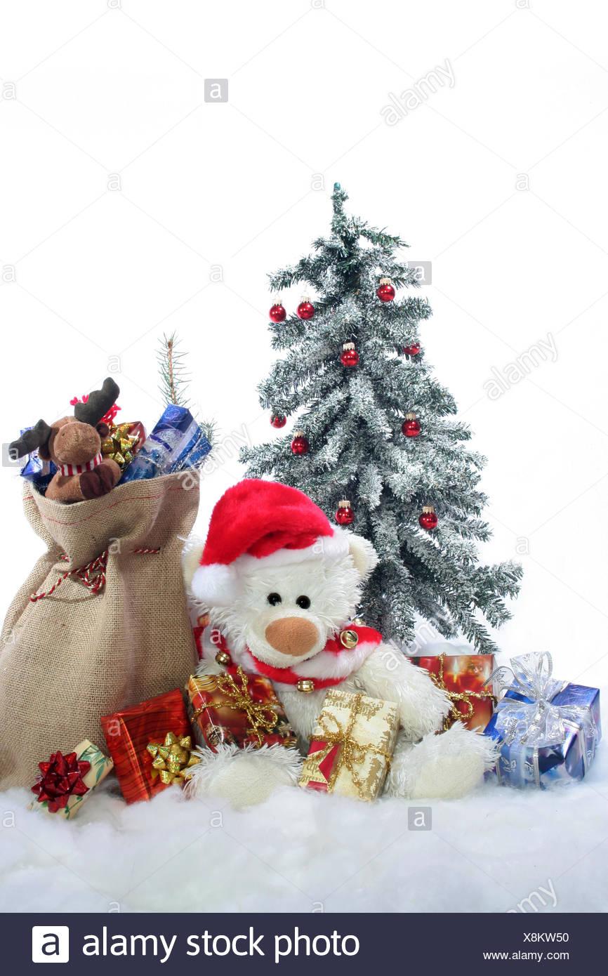 Schleifen Weihnachtsbaum.Weihnachtsmann Weihnachten Weihnachtsbaum Geschenke Schnee Schlitten
