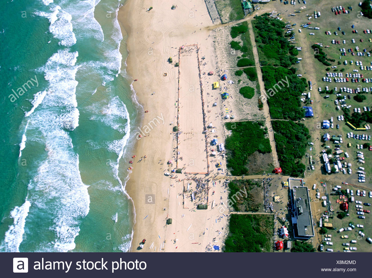 AERIAL SHOT OF SYDNEY BAY AUSTRALIA - Stock Image