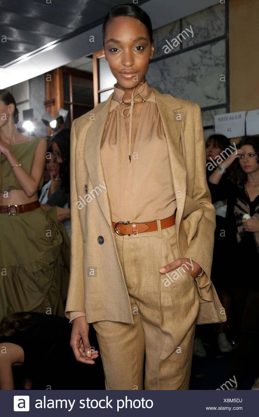 Salvatore Ferragamo Backstage Milan Ready to Wear - Stock Image