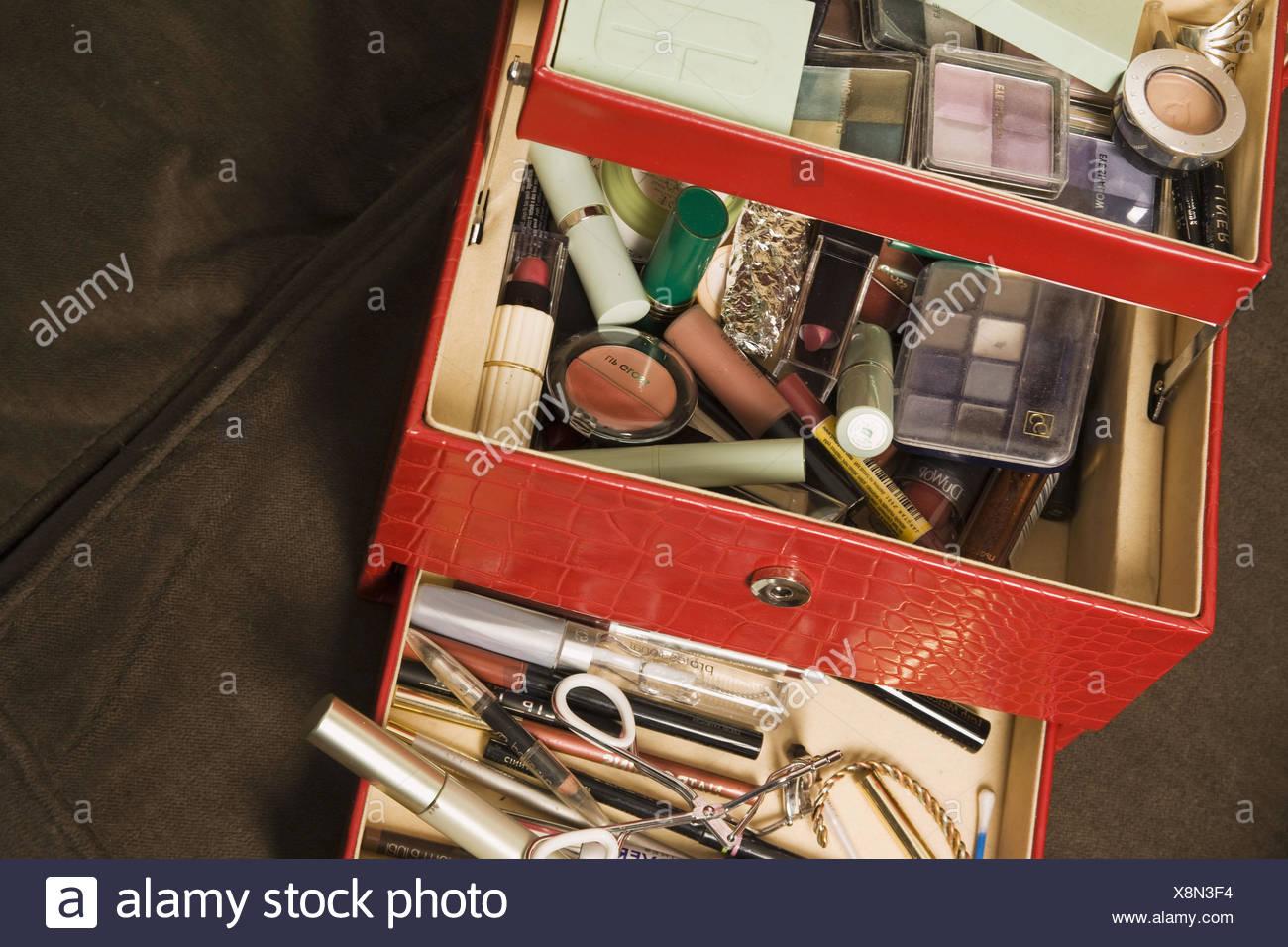 Woman´s makeup kit. - Stock Image