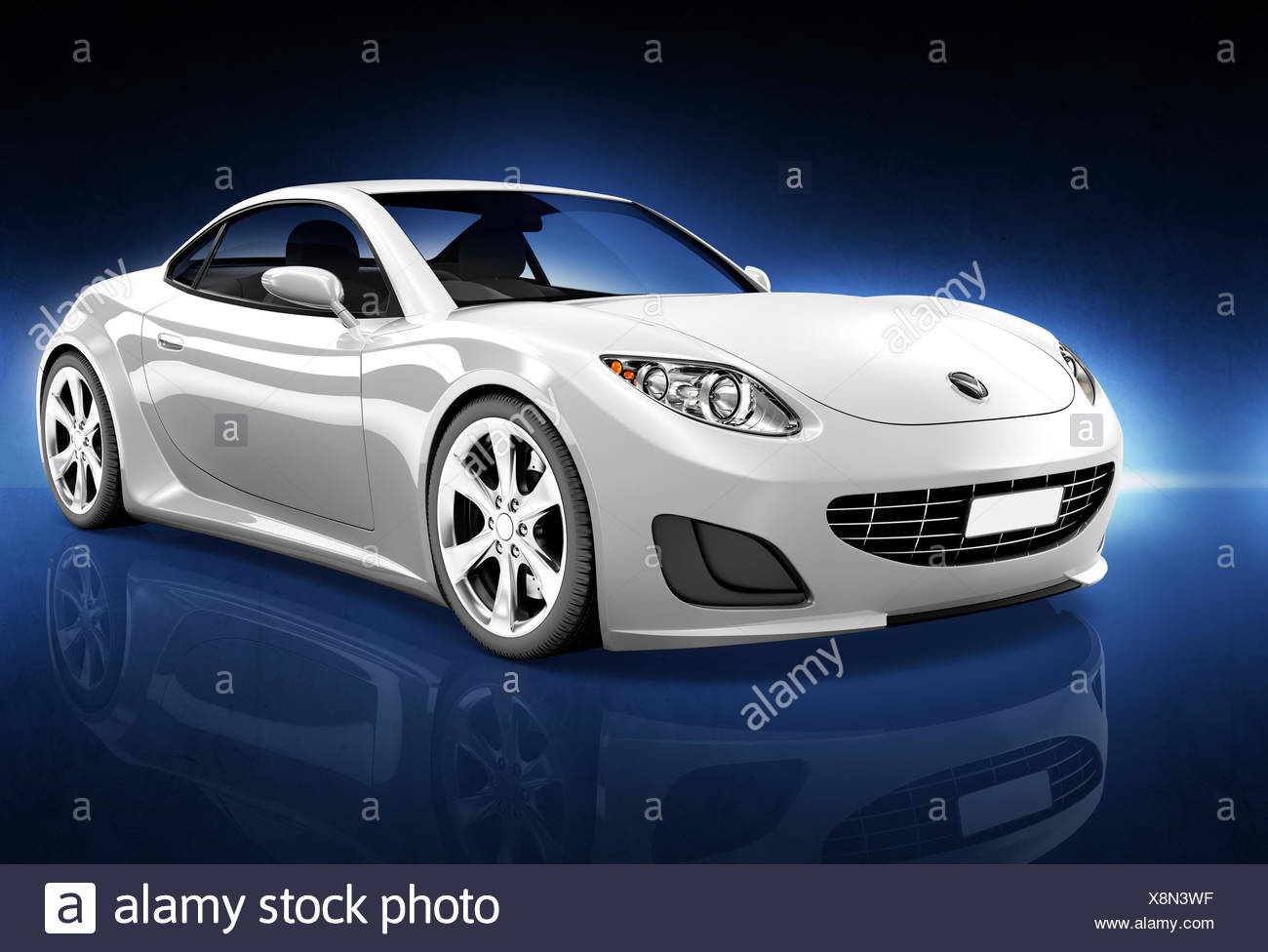 Comtemporary Car Elegance Vehicle Transportation Luxury Performance Concept - Stock Image