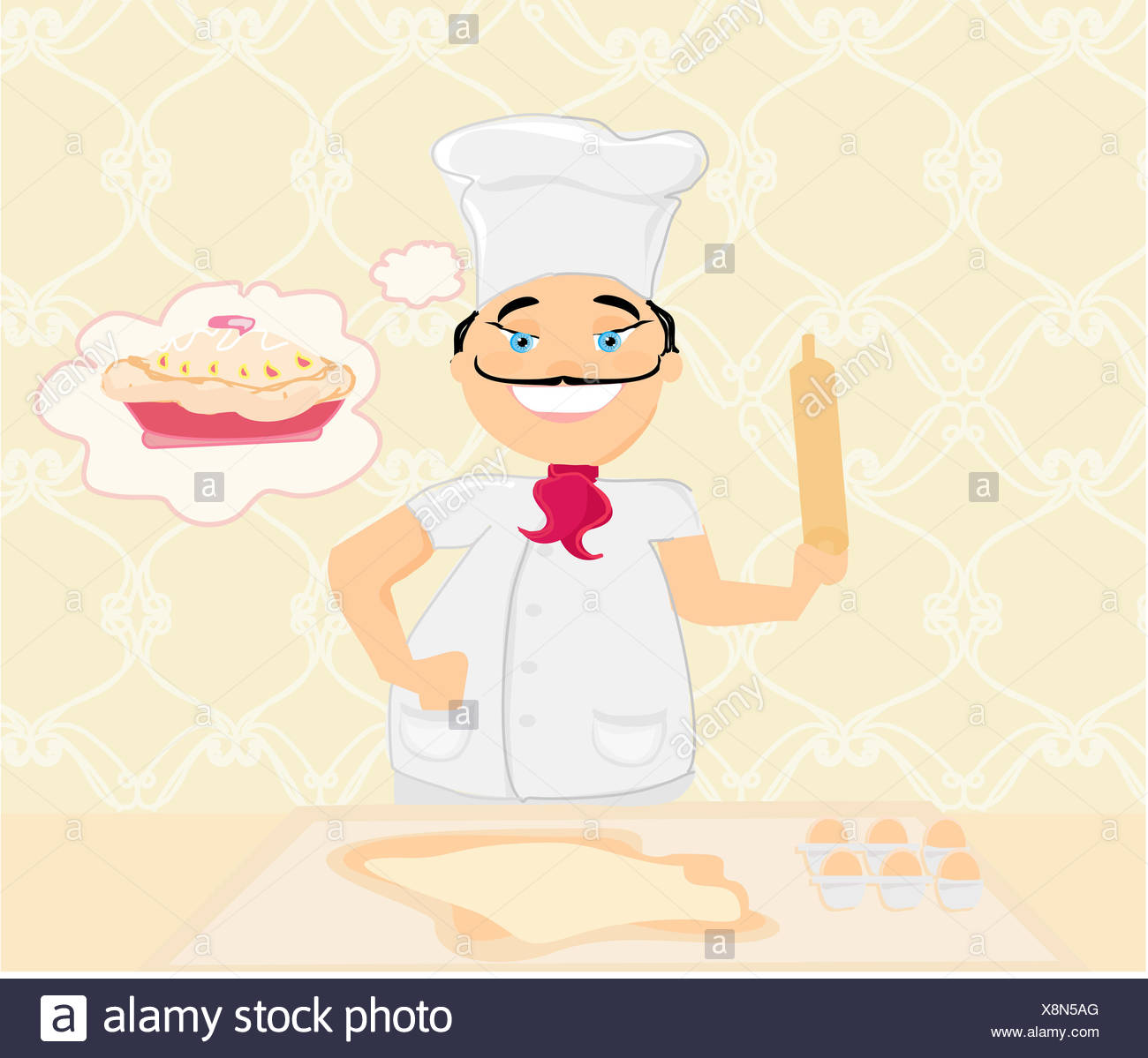 Chef Vector Stock Photos   Chef Vector Stock Images - Page 3 - Alamy 1f8776a28be0