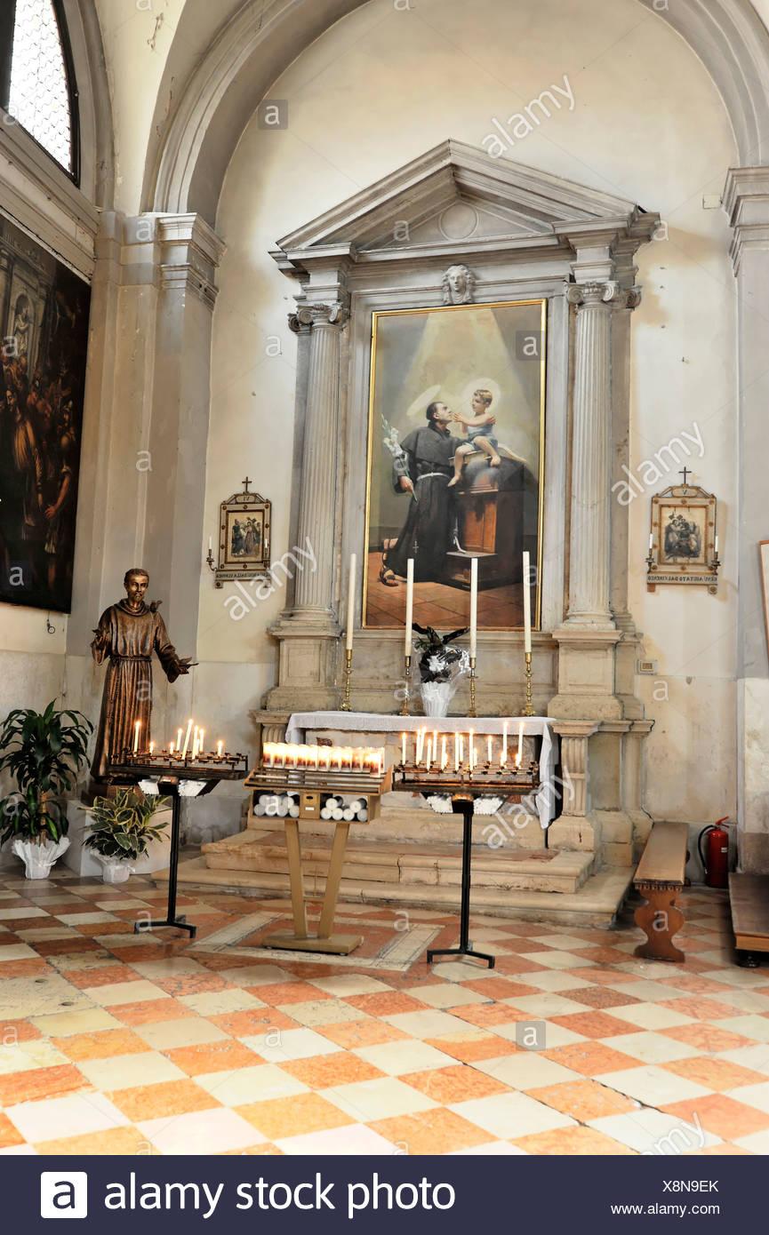 Side Altar Church Of San Martino Vescovo 16th Century Burano Venice Veneto Region Italy Europe Stock Photo Alamy
