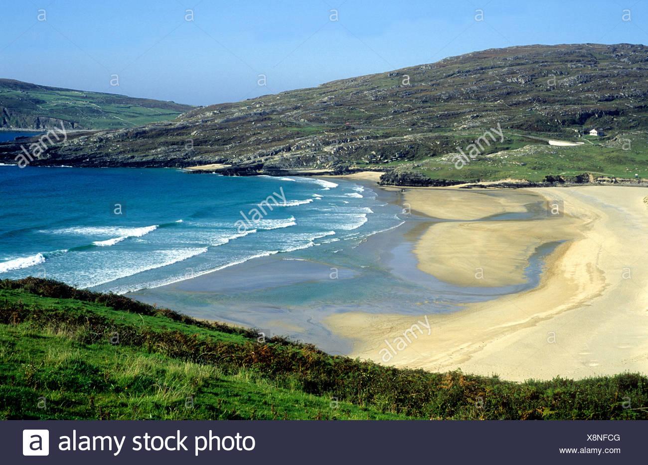 Barleycove Beach, County Cork, Ireland Eire Irish beaches coast coastal scenery sea sand waves - Stock Image