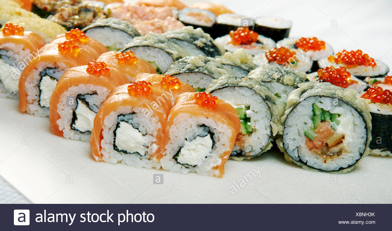Sushi Roll . - Stock Image