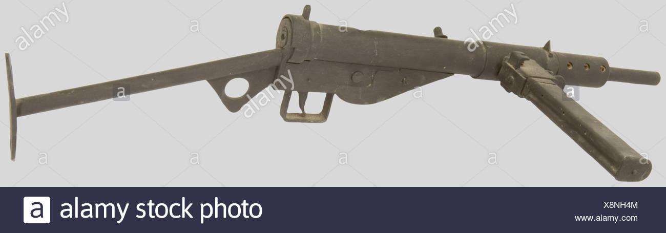 Armes à feu, Maquette en bois de Sten MK II, à l'échelle 1. Superbe travail., , Additional-Rights-Clearances-NA - Stock Image