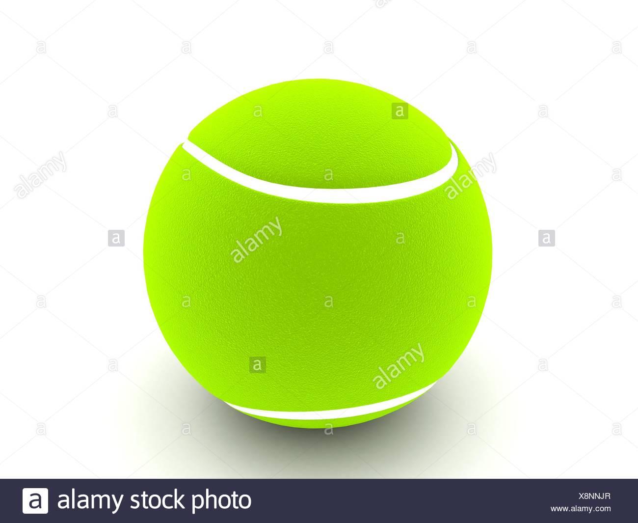 three dimensional tennis ball - Stock Image