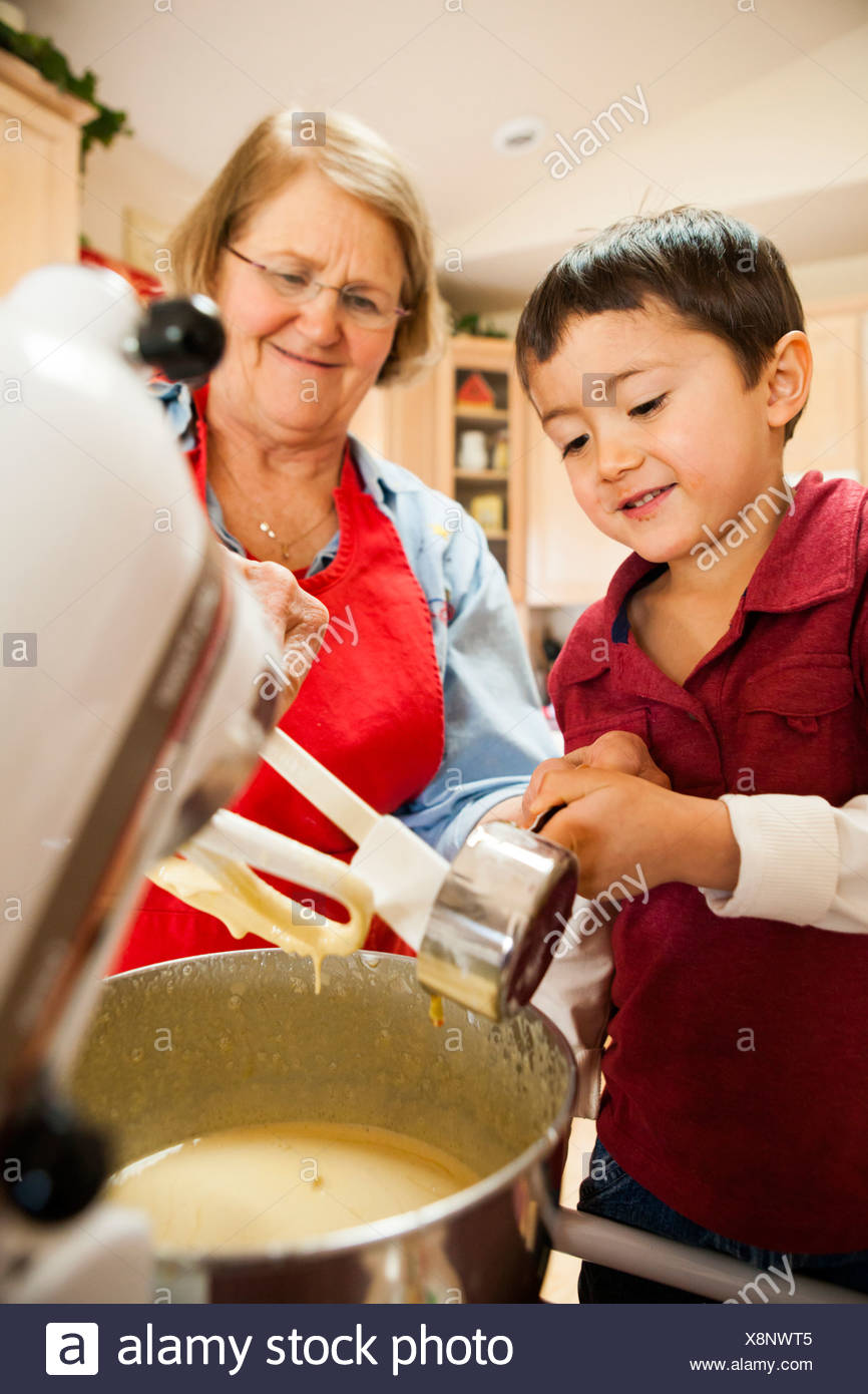 Making cookies - Stock Image