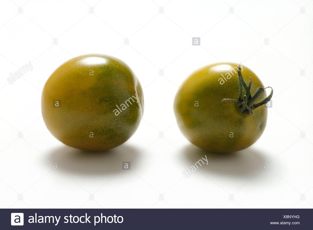 Tomato varieties: Green Grape - Stock Image