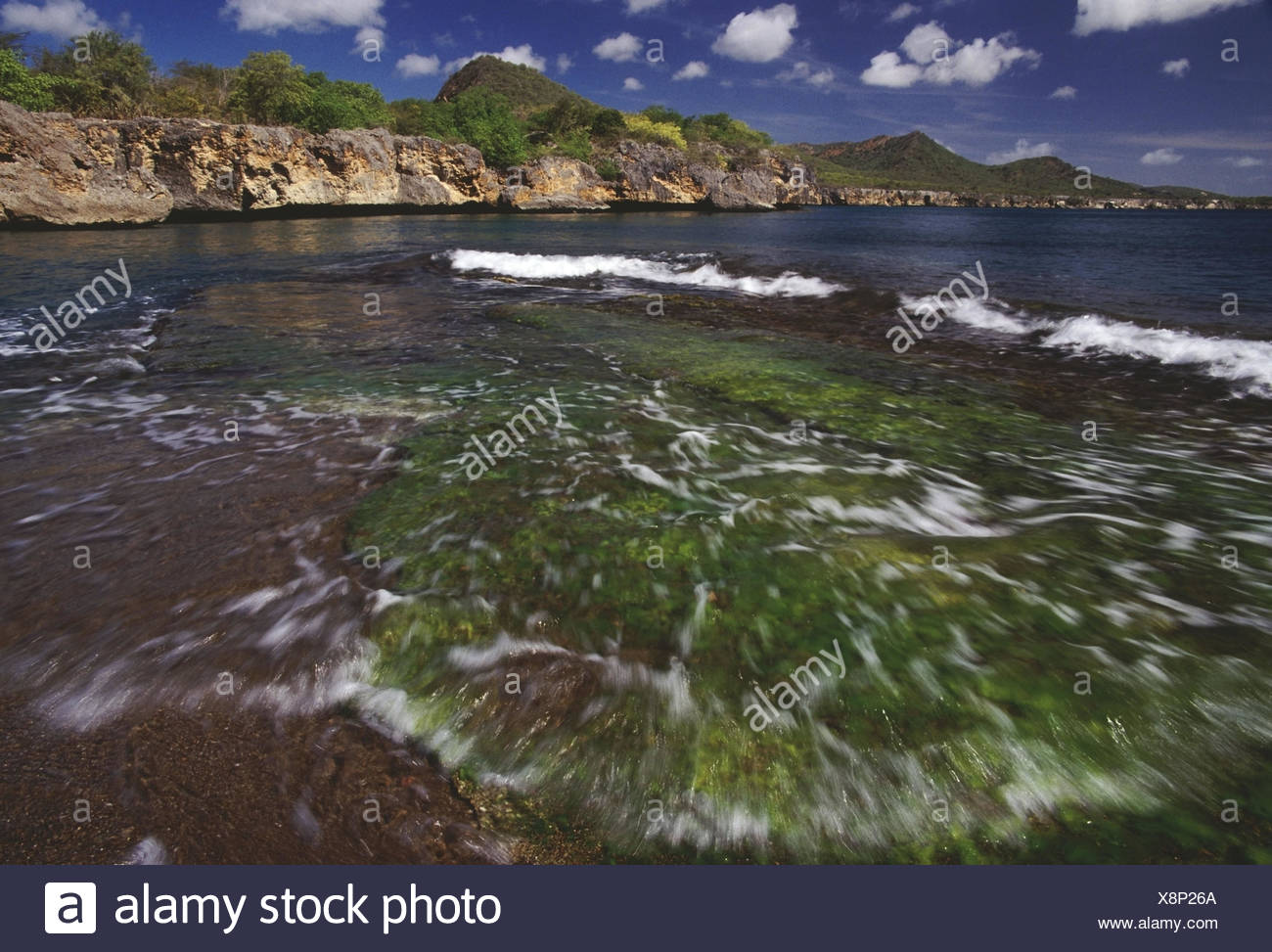 The Caribbean, beach, bile coast, bay, Curacao, - Stock Image