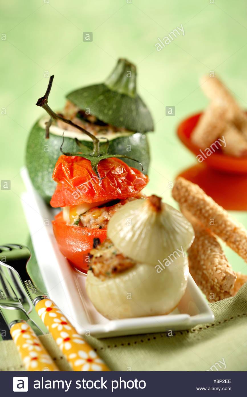 Provençal-style stuffed vegetables - Stock Image