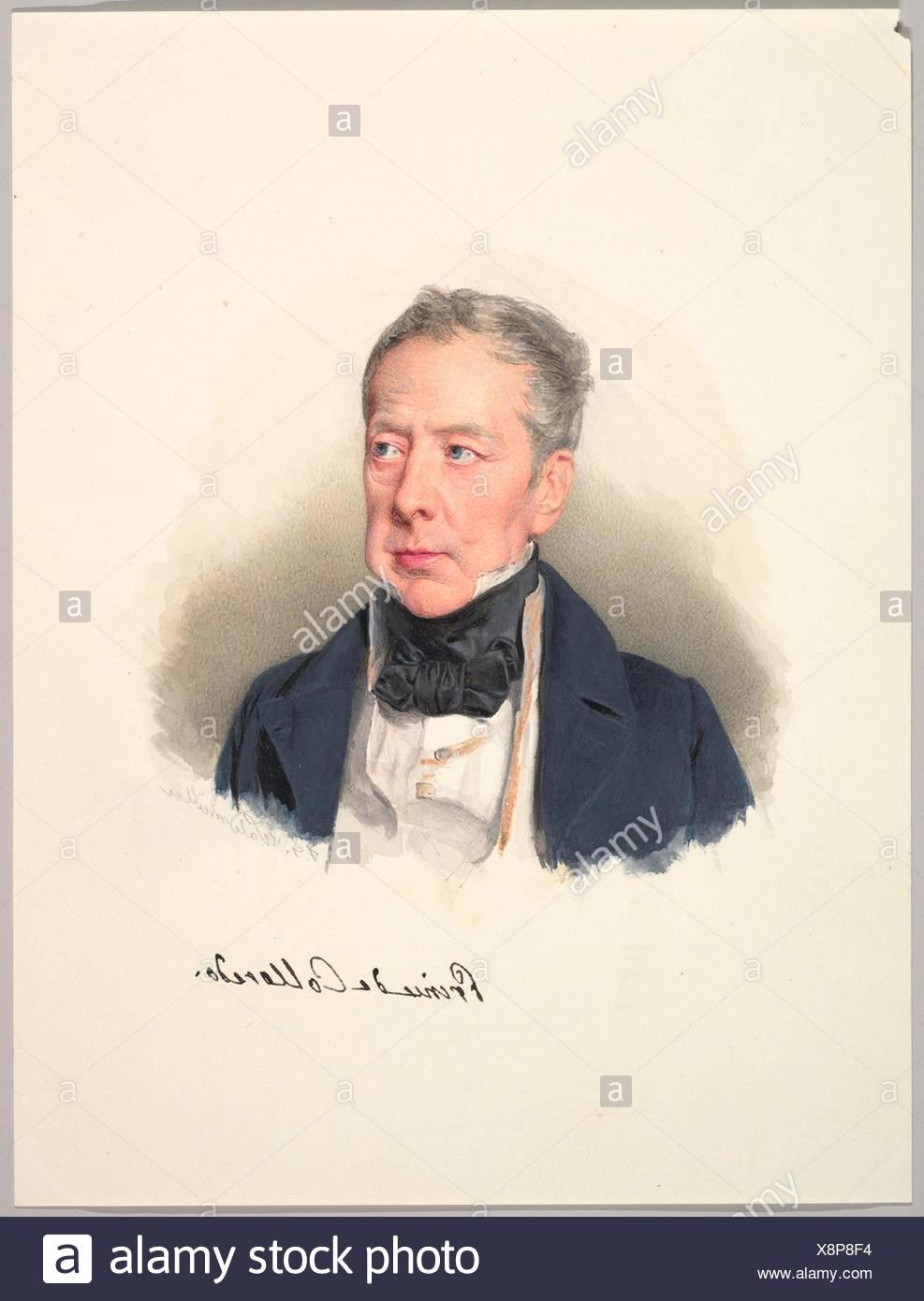 Prince Rudolph Joseph of Colloredo-Mansfeld. Artist: Ferdinand Georg Waldmüller (Austrian, Vienna 1793-1865 Helmstreitmühle in der Hinterbrühl); - Stock Image