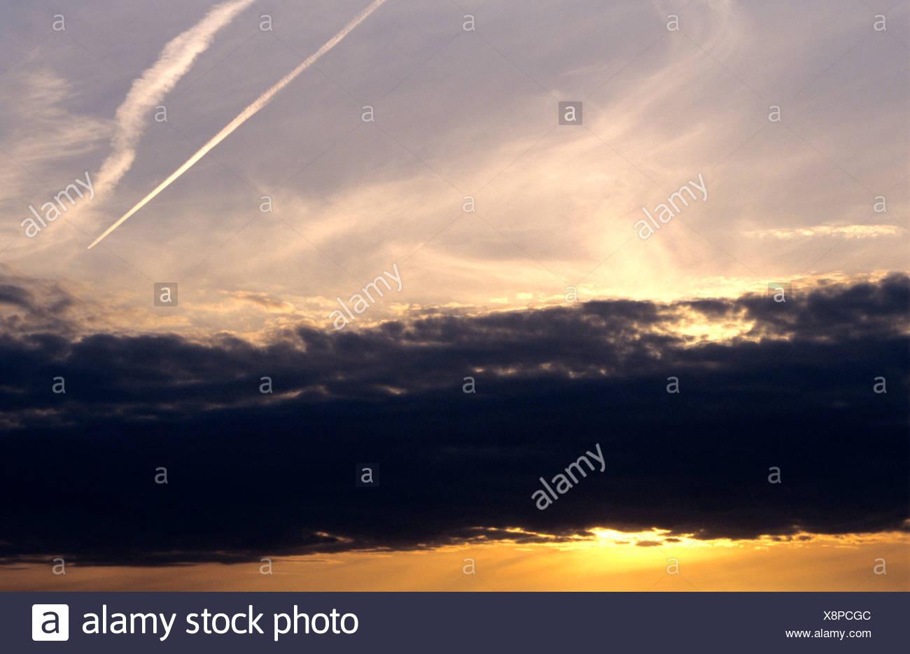 Light phenomena in an evening sky - Stock Image