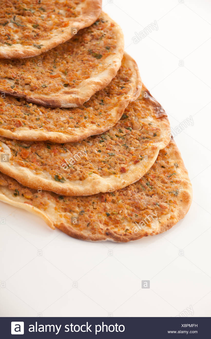 Turkish style Minced lahmacun - Stock Image