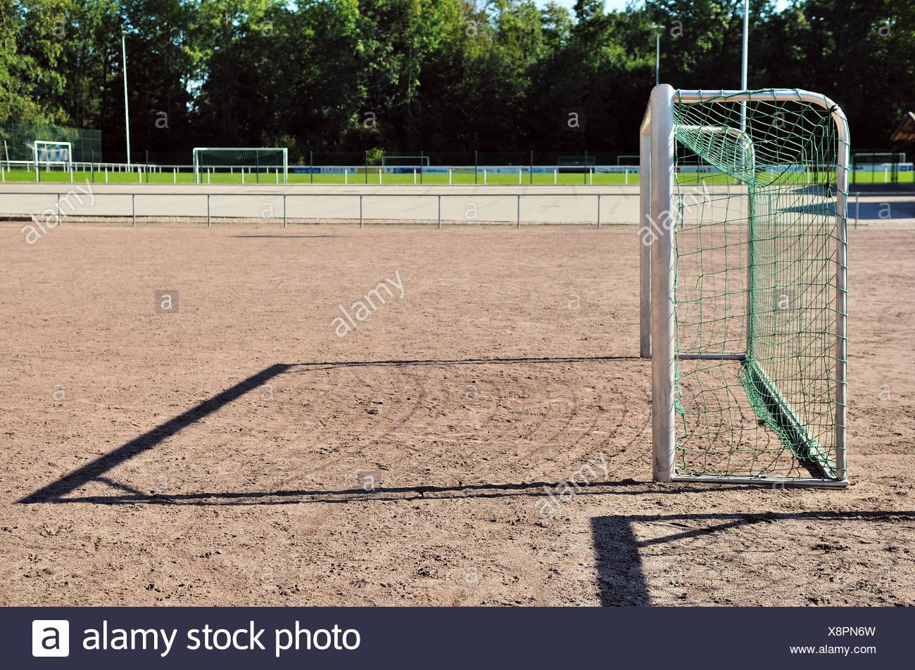 Football Field Goals Stock Photo