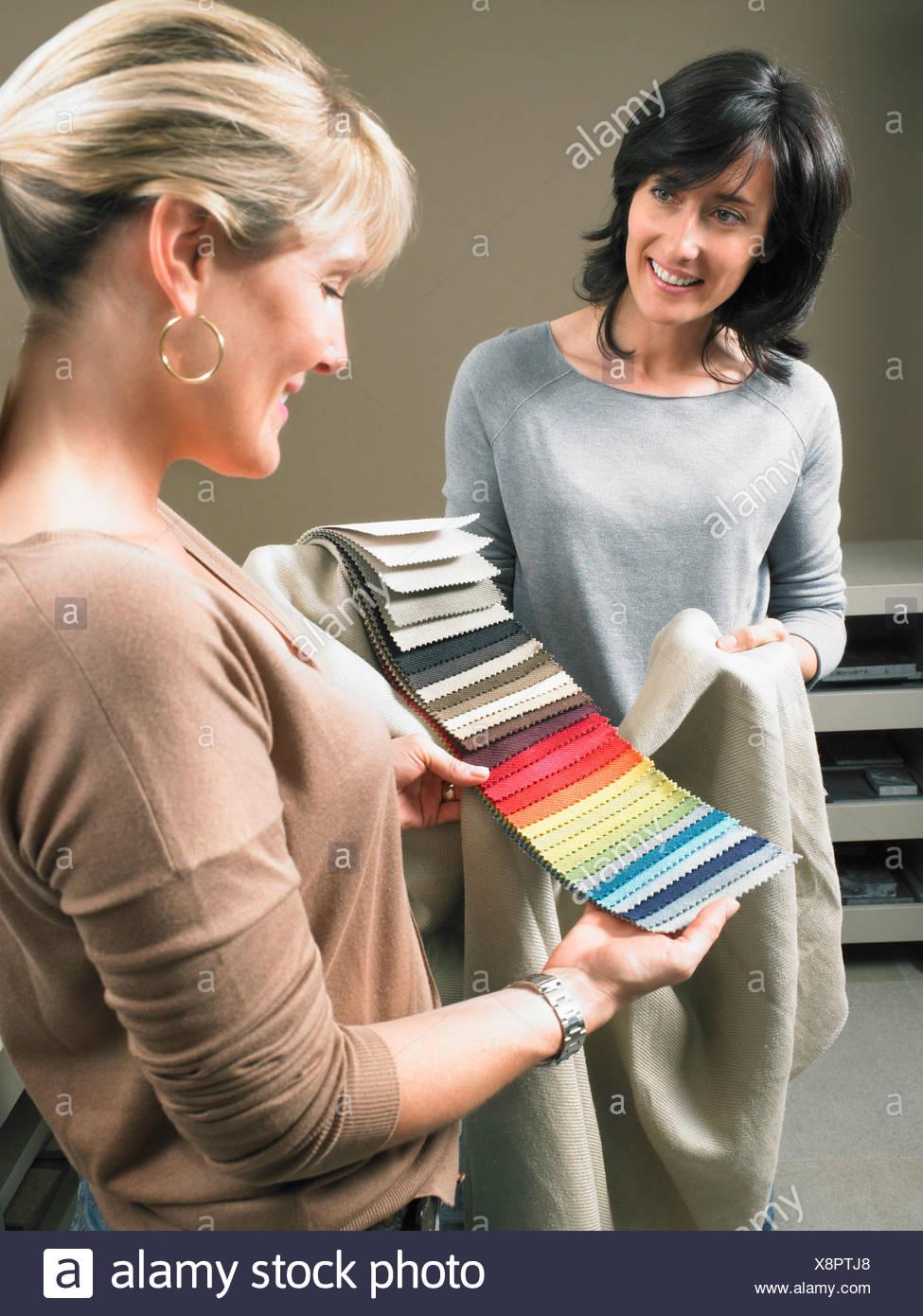 interior designer client fabric stock photos interior designer