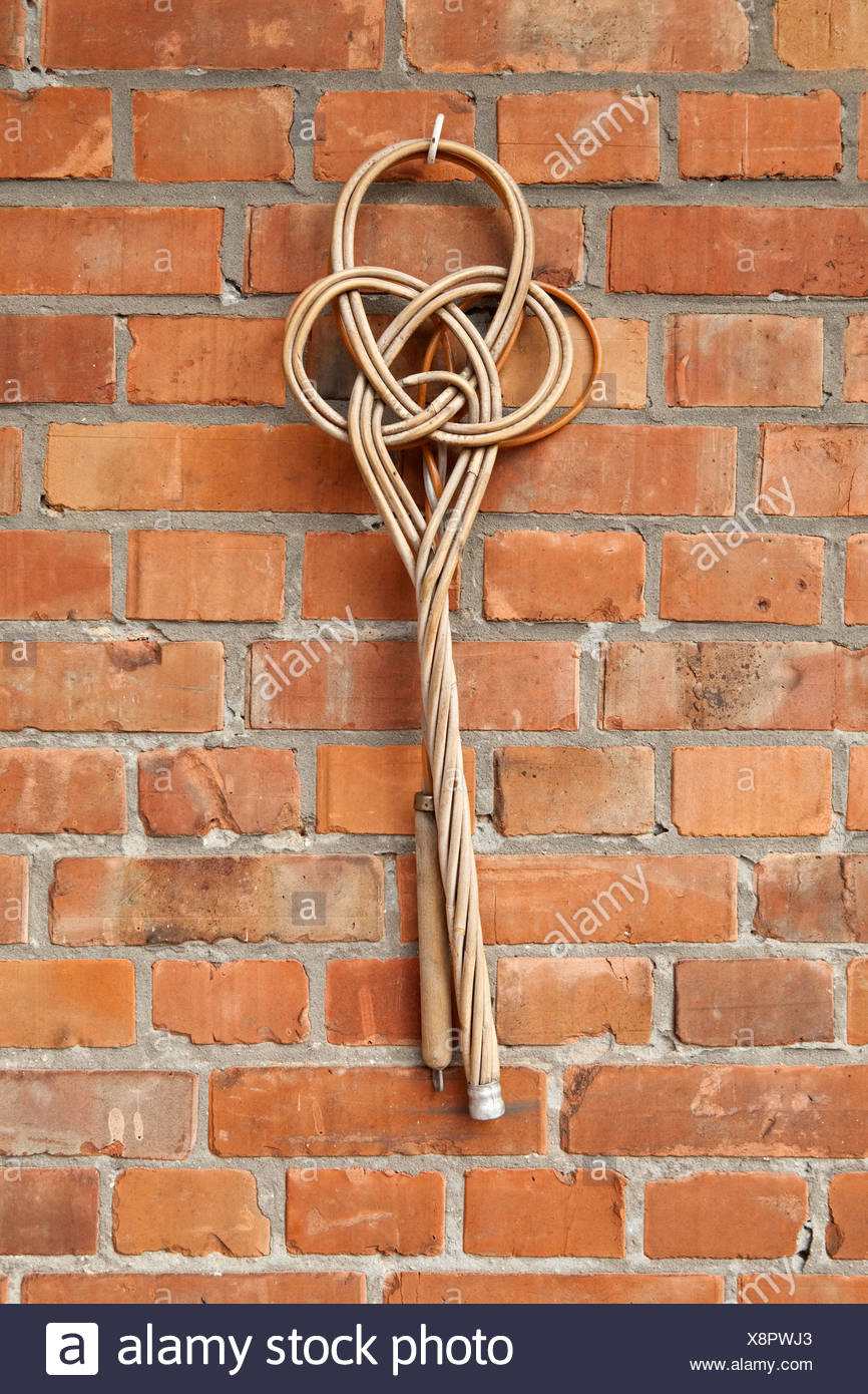 An old-fashioned carpet beater