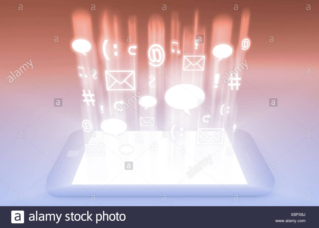 Emerging Mobile Market Media and Technologies Art Stock Photo