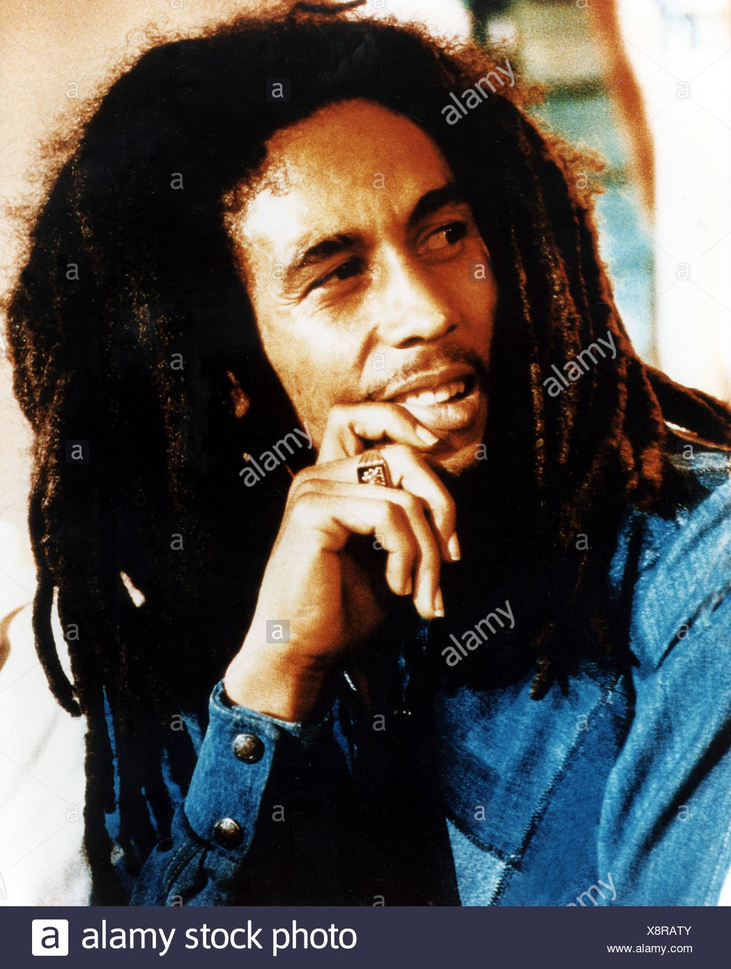 Marley, Bob, 6.2.1945 - 11.5.1981, Jamaican musician, portrait, 1970s, Additional-Rights-Clearances-NA - Stock Image