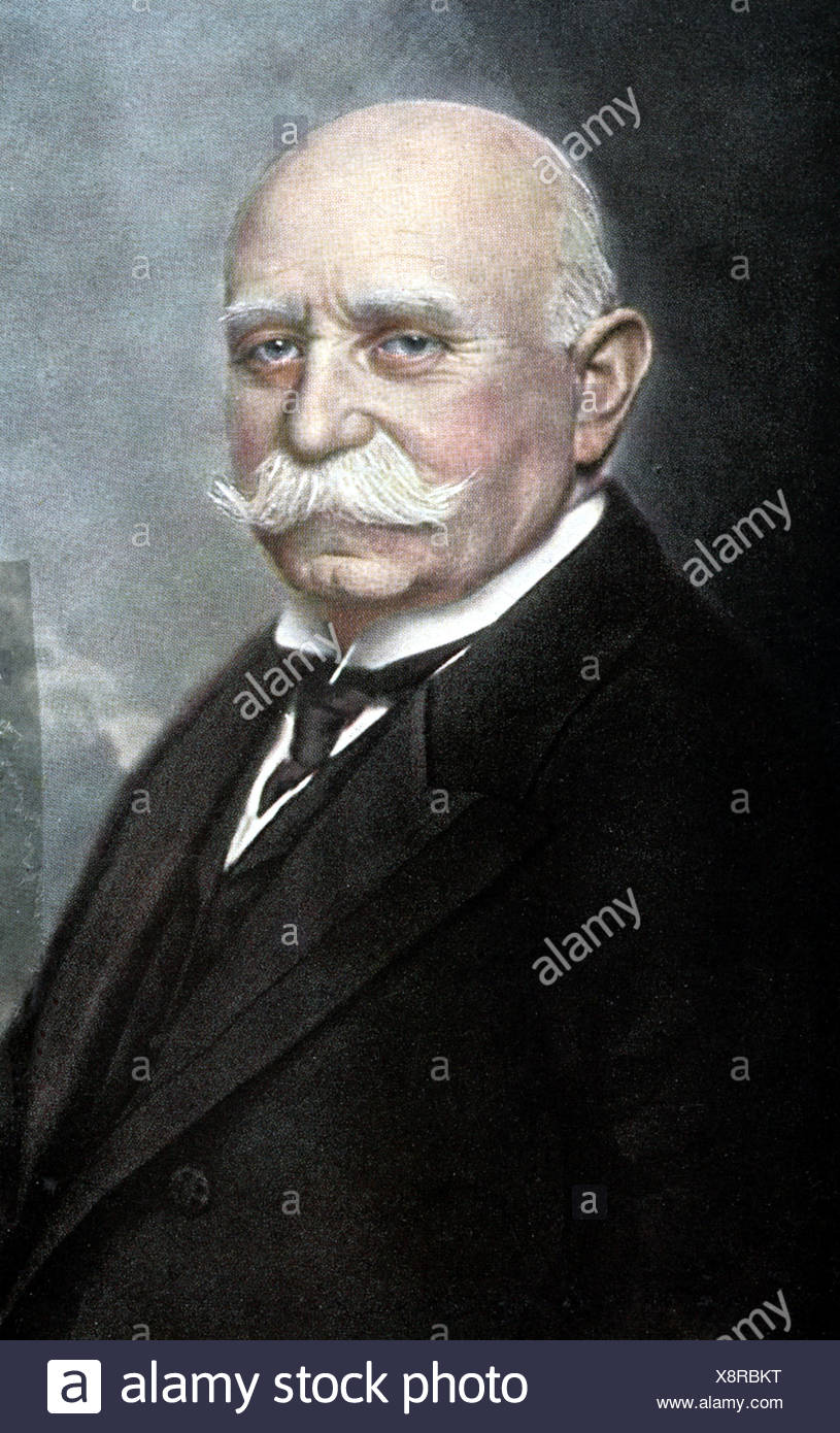 Zeppelin, Ferdinand Count of , 8.7.1838 - 8.3.1917, German aeronautic pioneer, portrait, , Additional-Rights-Clearances-NA - Stock Image