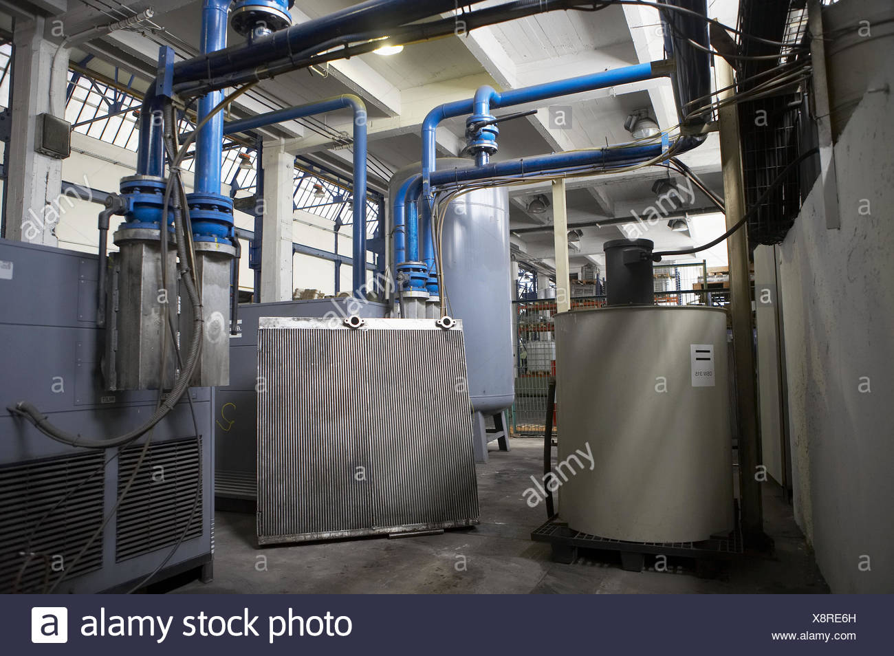 Air compressed, radiator, metallurgy. Guipuzcoa, Euskadi, Spain - Stock Image