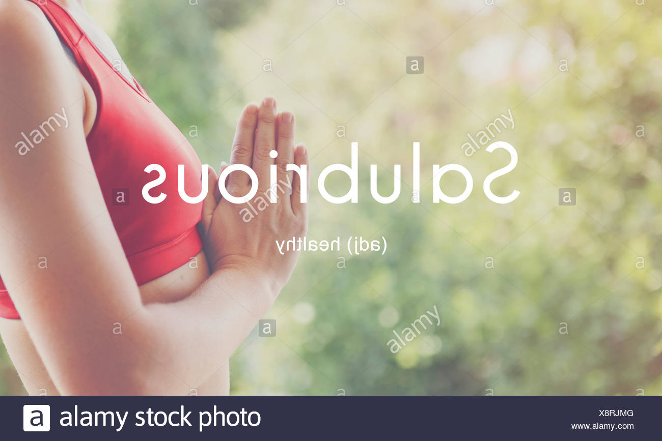 Salubrious Wellness Healthy Fitness Strong Powerful Concept - Stock Image