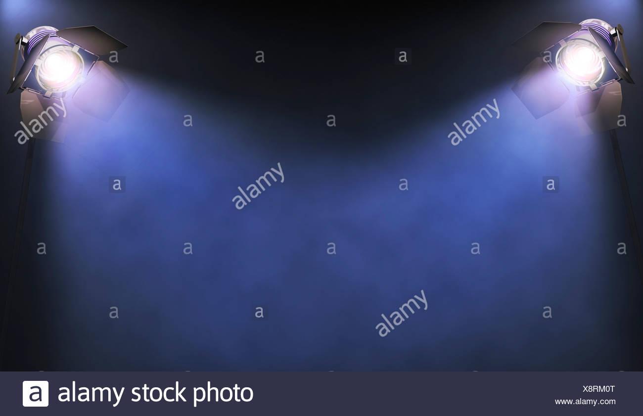 Spotlights, artwork - Stock Image