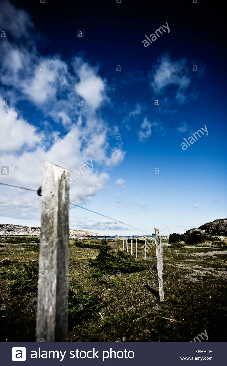 Enclosure in a deserted area - Stock Image