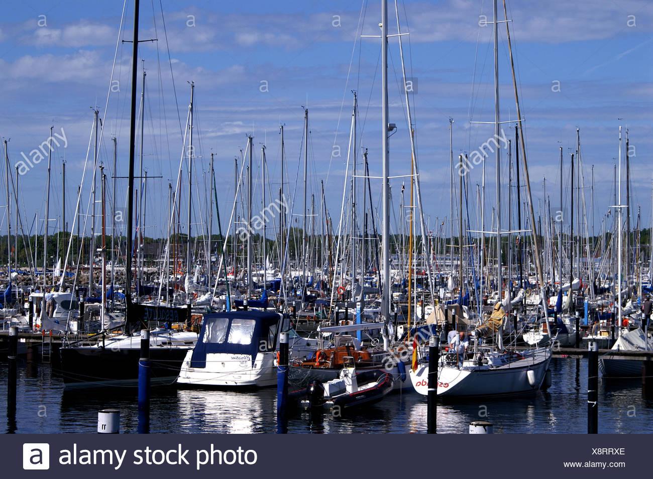 sail water baltic sea salt water sea ocean yachtsman aquatic sport sailing boat Stock Photo