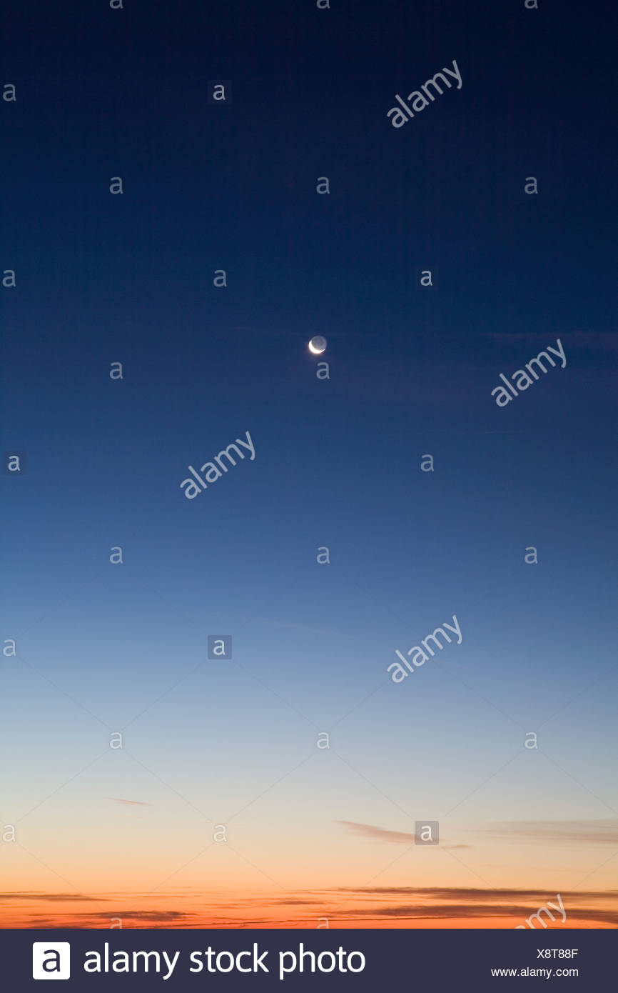 Moon In The Sky - Stock Image