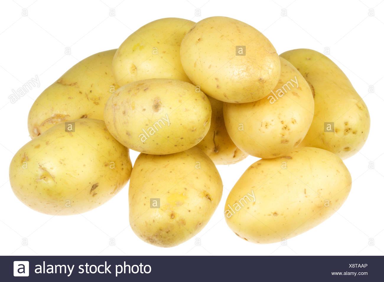 Potatoes on white. - Stock Image