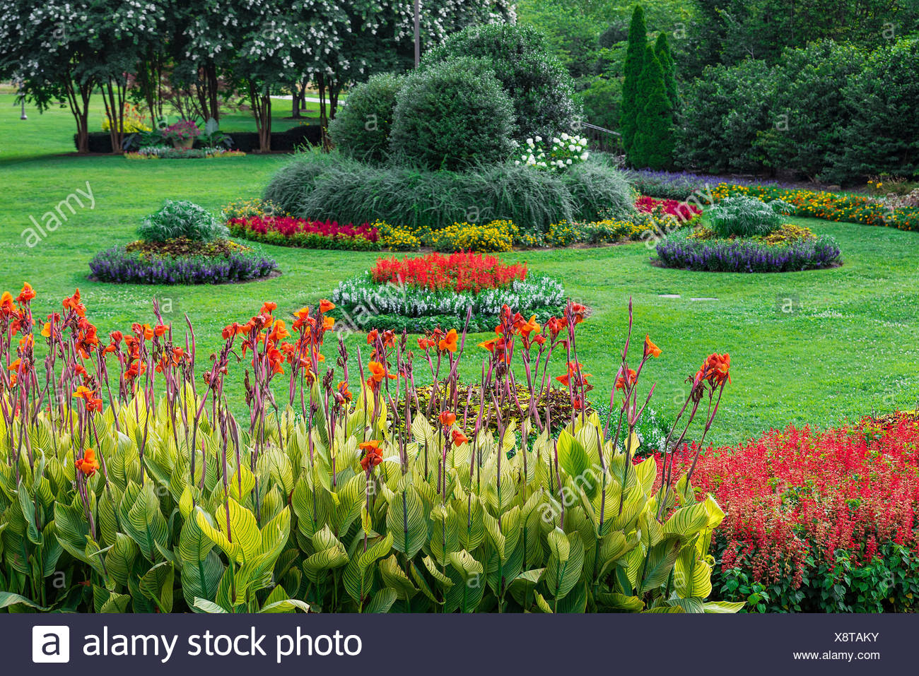 The Sunken Garden at Centennial Park, Nashville, Tennessee, USA. - Stock Image
