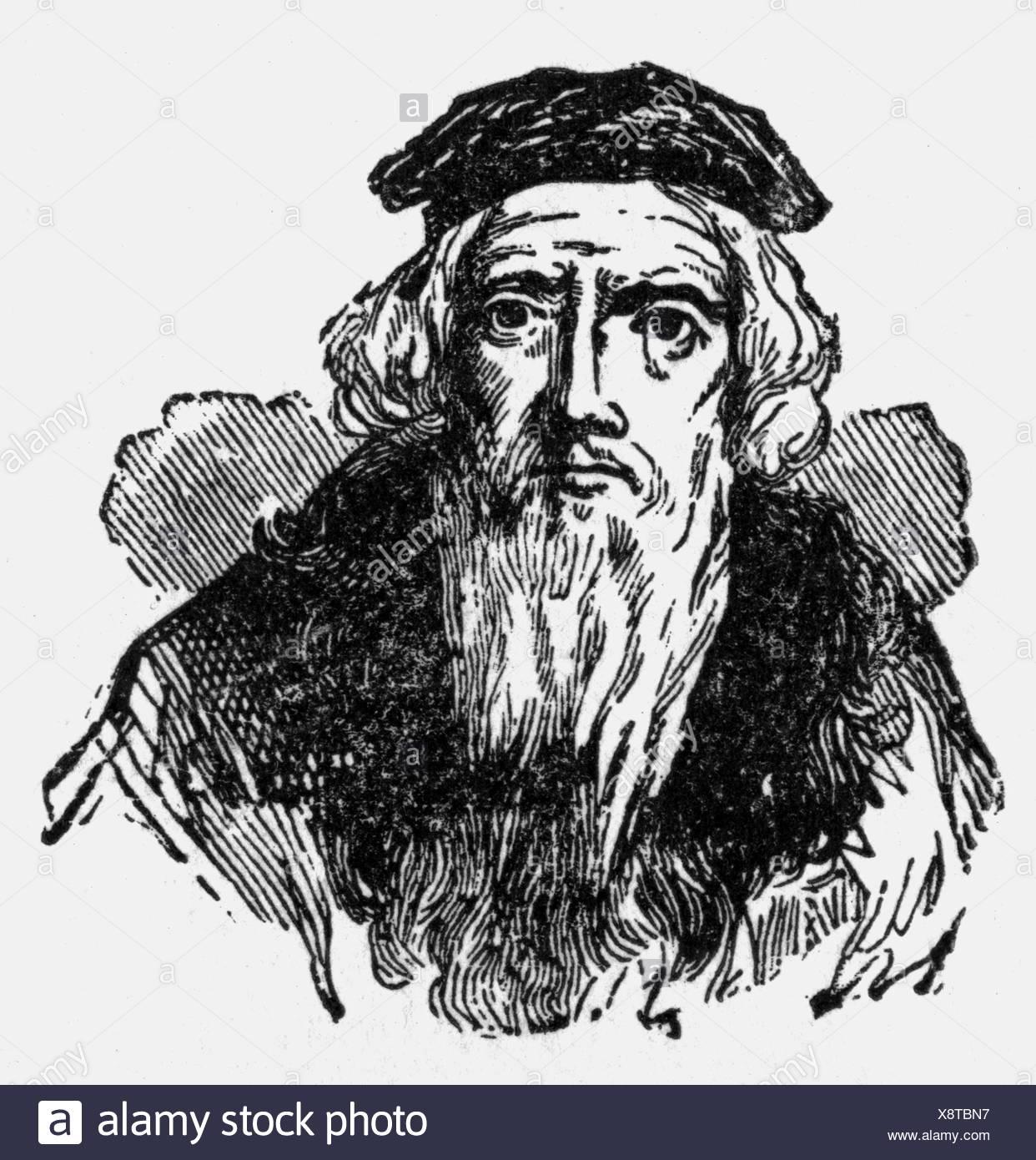Cabot, Sebastian (Caboto), 1472/1884 - 1557, Italian navigator, explorer, portrait, Additional-Rights-Clearances-NA - Stock Image
