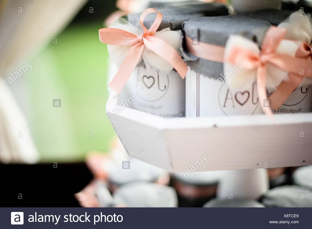 Jam Jars Wedding Favors Stock Photos Jam Jars Wedding Favors Stock