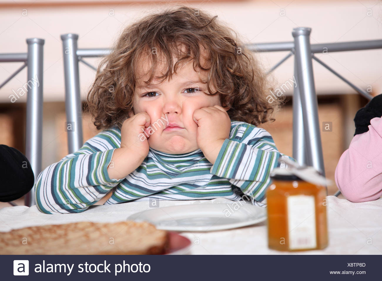 sad mood plate - Stock Image