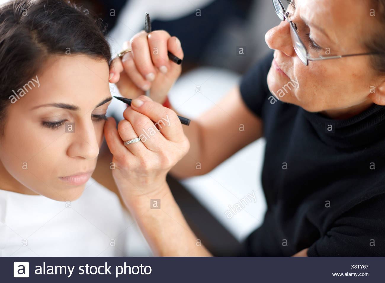 Getting Eyebrows Done Stock Photos Getting Eyebrows Done Stock