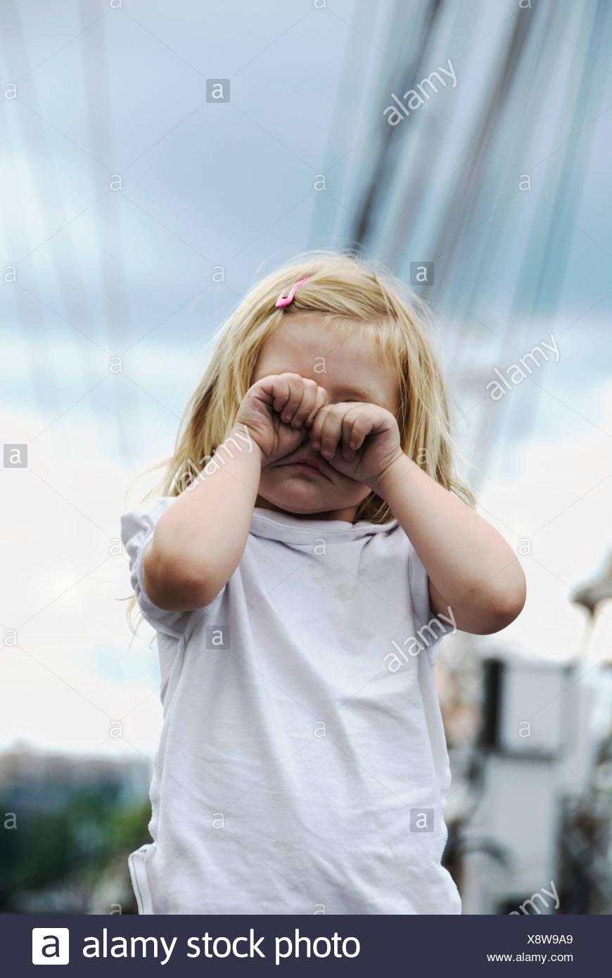 Tired girl - Stock Image