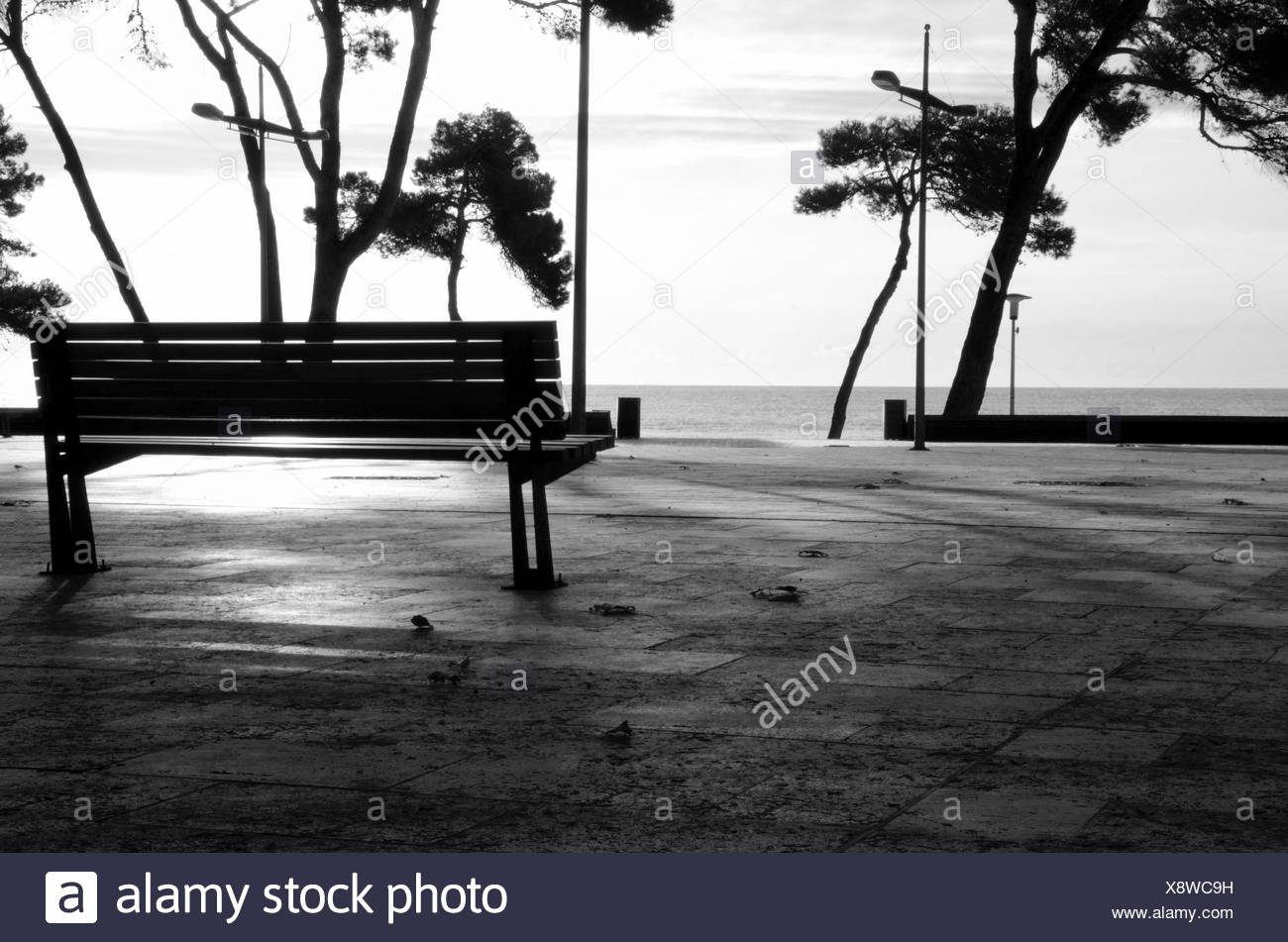 still life - sea view - Stock Image