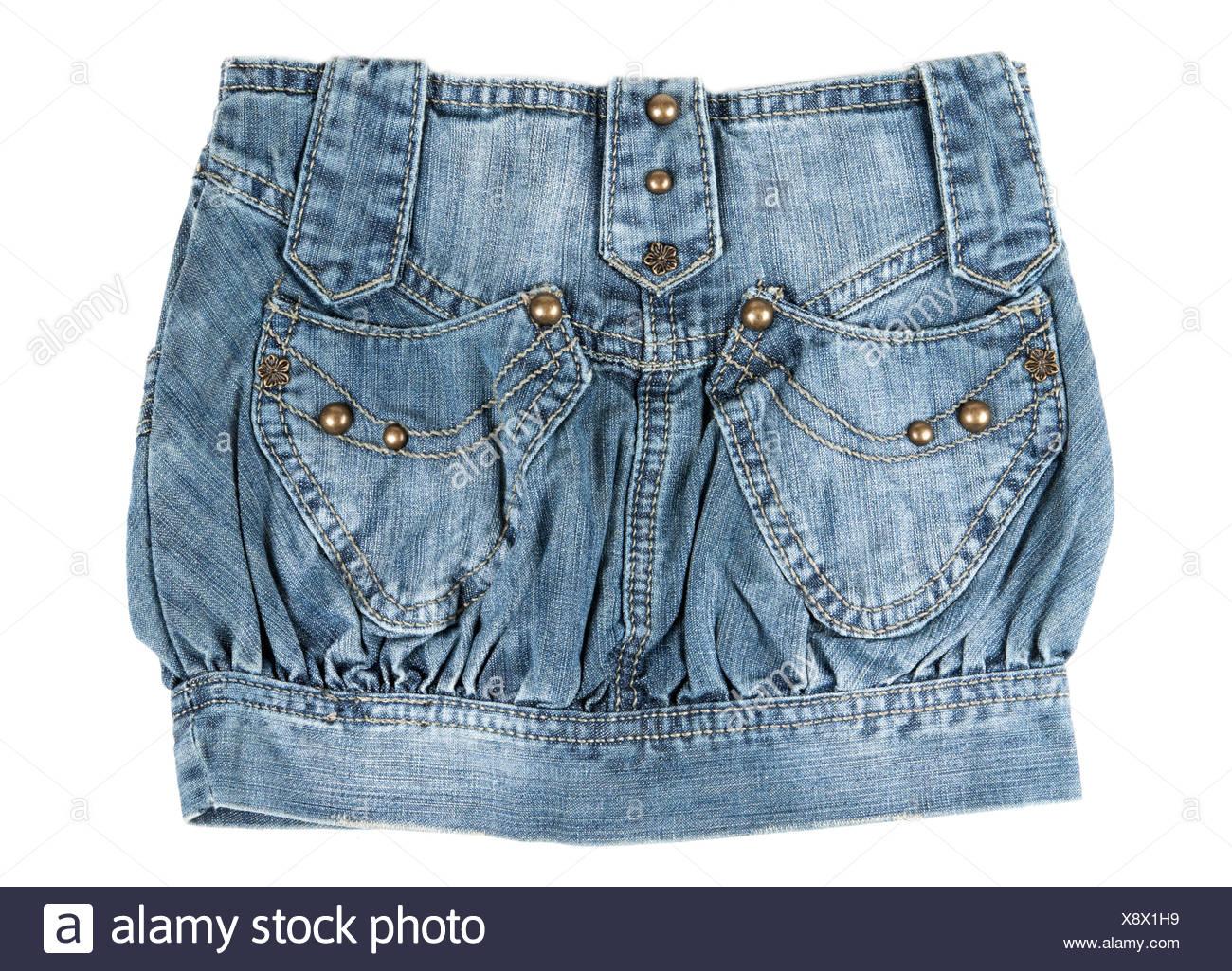 denim mini skirt - Stock Image