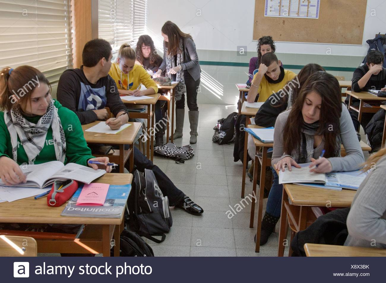 Secundary School, Salesians Sant Vicenç dels Horts, Baix Llobregat, Barcelona, Catalonia, Spain Stock Photo