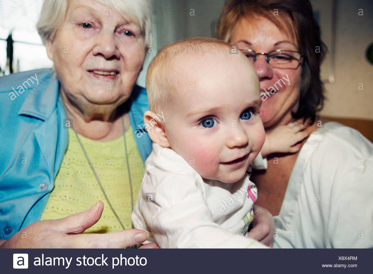 Three generations Sweden. - Stock Image